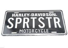 Harley Davidson SPRTSTR Motorcycle Licensed Metal License Plate Sign Tag