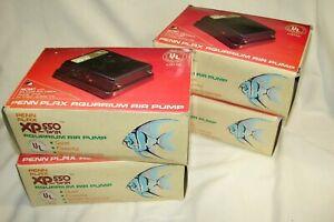 4 - Penn Plax XP-550 Aquarium Twin Air Pump Fish Tank,Quiet NEW in Box,Lot of 4