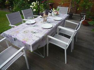 Tablecloth Provence 150x240 CM Oval Light Grey France Easy-Care Non-Iron