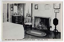 1963 PORTLAND MAINE RPPC Real Photo Postcard HENRY WADSWORTH LONGFELLOW House