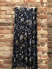 9dc091142 NWT Womens L Dressbarn Blue Floral Paisley Maxi Skirt Summer Knit Formal  Career