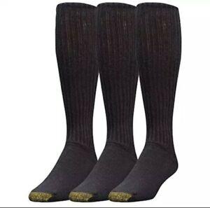 Gold Toe Men's Ultra Tec Performance Over-The-Calf Athletic Socks, 3 Pairs, Shoe