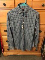NWT$135 Peter Millar Dress Shirt Summer Comfort Gingham Check S