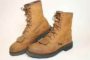 Ariat Mens Size 9.5 D 42.5 M Cascade Steel Toe Leather Lace Up Work Boots 37327