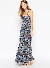 NWT French Connection Floral Print Maxi Dress Blue 8 Cotton Party Wedding
