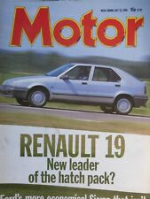 MOTOR 88/07/20 RENAULT 19 FIAT X1/9 TIPO FORD SIERRA ESCORT VW GOLF