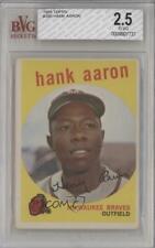 1959 Topps Hank Aaron #380 BVG 2.5 HOF
