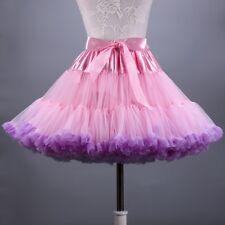 Lady Girl Lolita Petticoat Crinoline Underskirt Tutu Rockabilly Bubble Skirt Red