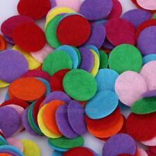 1000pcs Mixed Colors Die Cut Felt Circle Appliques Cardmaking decoration 1.5cm