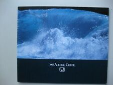 Honda Accord Coupe prestige brochure Prospekt text English 24 pages 1993