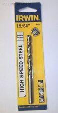 "Irwin General Purpose 19/64"" High Speed Steel Jobber Length Drill Bit # 60519"