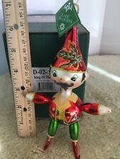 """King of Elves"" 7"" Slavic Treasures 02-1109 HandBlown Glass Ornament 2002"