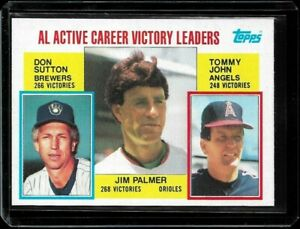 1984 Topps Active Victory Leaders Jim Palmer #715 NM-MT