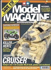 Tamiya Model Magazine Issue 141 JUL 2007, GOOD, tamiya Crusader 1/48