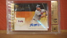 2012 Topps Golden Moments Autographs Brian McCann Card BGS 9.5 Auto 10.