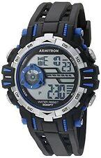 Armitron Men's Black Resin Watch, 100 Meter WR, Chronograph, 40/8369BLU