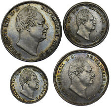 More details for 1837 maundy set - william iv british silver coins - superb