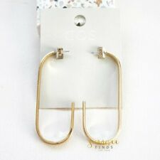 COS Curved Open Hoop Earrings In Gold Minimalist NWT