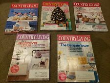 LOT OF 5 issues of COUNTRY LIVING Magazine - 2006, 2008, 2009, 2010