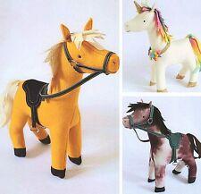 STABLE MATES  - Sewing Craft PATTERN - Soft Toy Felt Rag Doll Horse Pony Unicorn