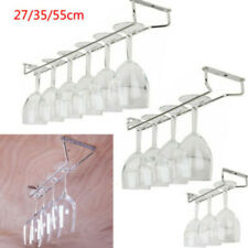27/35/55cm Wine Champagne Glass Cup Stainless Kitchen Bar Rack Holder Hanger