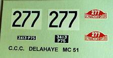 decals 1/43: Delahaye 175 Motto Monte Carlo 1951