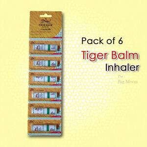 6 x Tiger Balm Inhaler Menthol Relieve Nasal Congestion Cold Dizziness