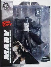 SIN CITY SELECT MARV DELUXE B&W ACTION FIGURE. W/ BASE. DIAMOND SELECT