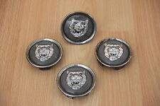 WHEEL CENTRE CAP SET/ RIM BADGE GREY X4 - Jaguar XJ / XK / X-TYPE / XF / S-TYPE