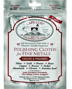 2pc CAPE COD Fine Metal Polishing Cloths, Polish Silver, Gold Jewellery, watches