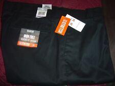 Docker's Signature Iron Free Khaki, Black, Classic Fit Flat Front 38/34 #664