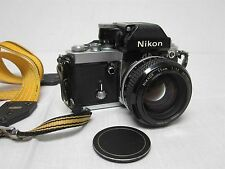 1977 NIKON F2 35mm SLR CAMERA 785XXXX JAPAN with 55mm 1:1.2 LENS