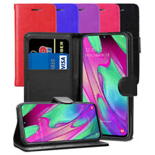 For Samsung Galaxy A40 SM-A405FN/DS Case- Premium Leather Wallet Flip Case Cover