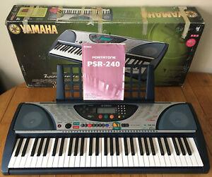 Yamaha PSR-240 MIDI Stereo Keyboard 61 Key Touch Sensitive Portable Grand Piano