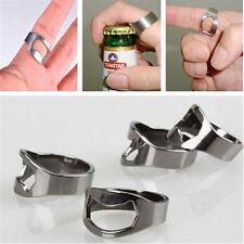 1PCS Creative Finger Ring Bottle Opener Beer Bar Stainless Steel Silver Tool TR