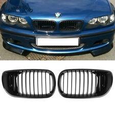Matte Black Kidney Front Hood Grilles For BMW 3 Series E46 316i-330i 02-05 Sedan