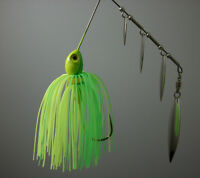 QUAD BLADE SPINNERBAIT 3/8oz  LIME GREEN & CHARTREUSE