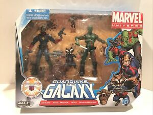 """Marvel Universe 3.75"""" Guardians of the Galaxy Action Figure Pack Hasbro 2011 NEW"""