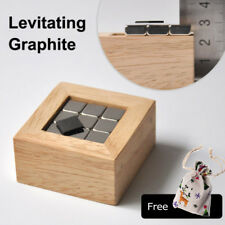 Pyrolytic Graphite Magnetic Levitation Wood Box Set Diamagnetic Science Desk Toy