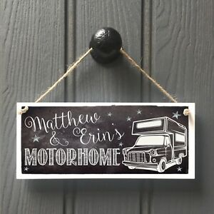 Motorhome Name Sign MOTORHOME CAMPER plaque Home From Home Van - FUN GIFT