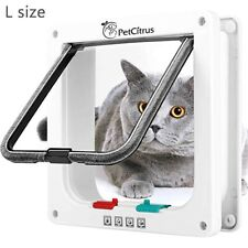 """Large (Outer Size 9.2"""" X 9.8"""") 4 Way Locking - Cat/Dog Doors For Interior Doors"""