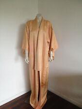 Vintage Pale Orange 100% Silk Kimono Gown