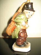 Porcelana figura-friedel/Germany us-Zone-hombre con el contrabajo