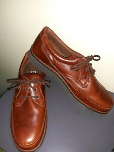 Hush Puppies The Body Shoe Walking Brown Leather Comfort Shoe Mens Size 12M