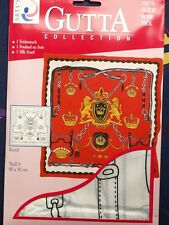Seidenmalerei Halstuch Kopftuch 100%Seide Twill8 90x90cm Gutta Motiv Royal