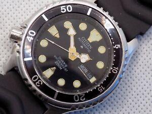 CITIZEN PROMASTER Scuba Divers 200M Automatic Mens Watch 8203-824393 c1990 LEFTY