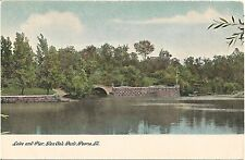 Lake and Pier at Glen Oak Park in Peoria IL Postcard