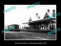 OLD LARGE HISTORIC PHOTO OF BREWARRINA NSW, THE RAILROAD DEPOT STATION c1910