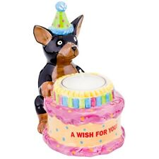 Chihuahua With Birthday Hat Birthday Candle Holder