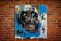 """Jean-Michel Basquiat """"Untitled,1982"""" oil painting on canvas huge wall 40x40inch"""